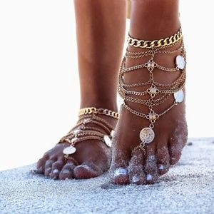 Jewelry - Coin Layered Persian Anklets Luxe Ankle Bracelet